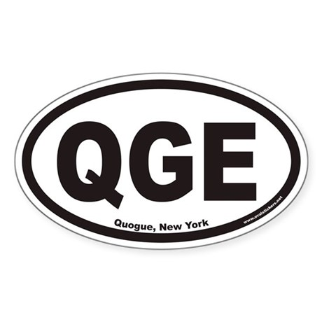 Quogue New York QGE Euro Oval Sticker