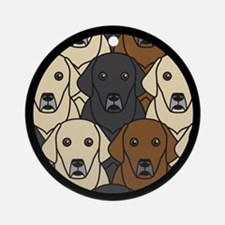 Lots of Labs Ornament (Round)