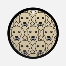 Lots of Yellow Labs Ornament (Round)