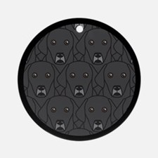 Lots of Black Labs Ornament (Round)