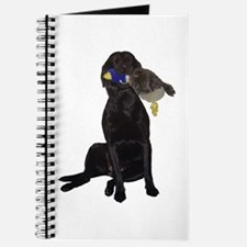 lab with duck Journal