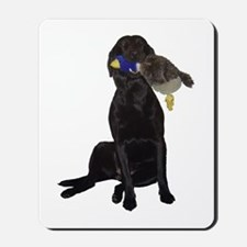 lab with duck Mousepad
