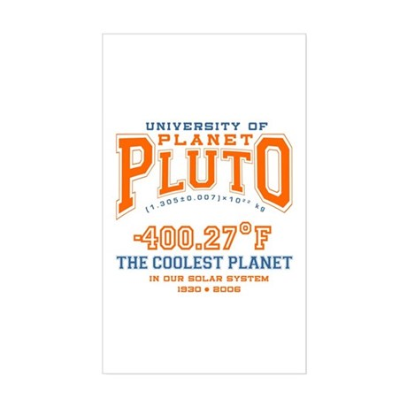 Pluto tshirts and gifts Rectangle Sticker