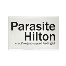 Parasite Hilton Rectangle Magnet