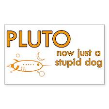 Pluto - Stupid Dog Rectangle Decal