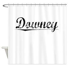 Downey, Vintage Shower Curtain