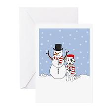 Dalmatian Season's Best Greeting Cards (Pk of 10)