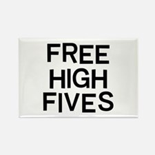 Free Fives Rectangle Magnet