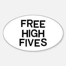 Free Fives Sticker (Oval)