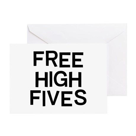 Free Fives Greeting Card