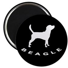 "b&w beagle dog 2.25"" Magnet (10 pack)"