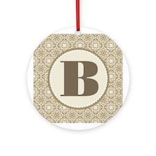 Monogram Letter B Gift Ornament (Round)
