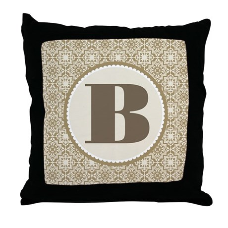 monogram letter b gift throw pillow by With letter b gifts