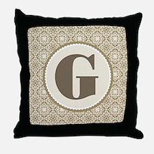 Monogram Letter G Gift Throw Pillow
