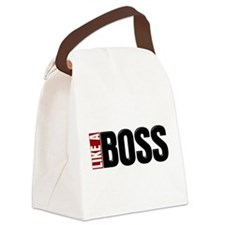 Like A Boss Canvas Lunch Bag