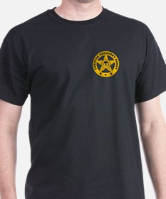 Fugitive Recovery Star and Handcuffs Black T-Shirt