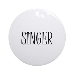 Singer Ornament (Round)