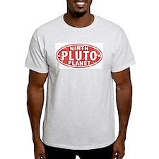 Pluto - Ninth Planet Ash Grey T-Shirt