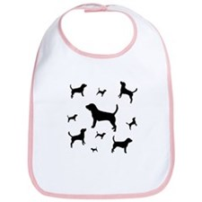 """Many Beagles"" beagle dogs Bib"