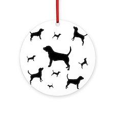 """Many Beagles"" beagle dogs Ornament (Round)"