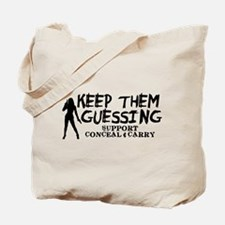 Keep Them Guessing - Support Conceal & Carry Tote