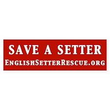 Save a Setter Bumper Sticker (red)