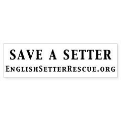 Save a Setter Bumper Sticker (white)