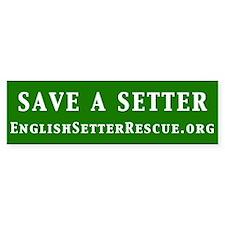 Save a Setter Bumper Sticker (green)