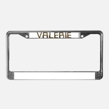 Valerie Circuit License Plate Frame