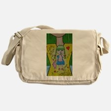 Look After Your Inner-Child, closer Messenger Bag
