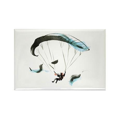 Paraglider Rectangle Magnet (100 pack)
