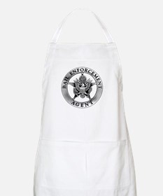 Pewter Bail Enforcement Badge on BBQ Apron