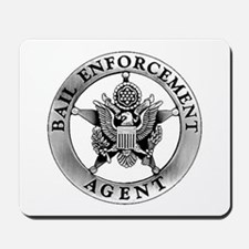 Pewter Bail Enforcement Badge on Mousepad