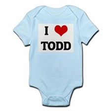 I Love TODD Infant Creeper
