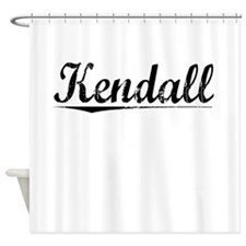 Kendall, Vintage Shower Curtain