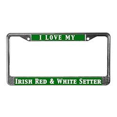 I Love My IR&W License Plate Frame