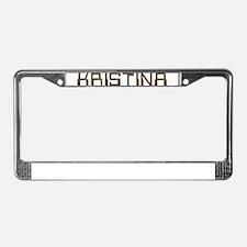 Kristina Circuit License Plate Frame