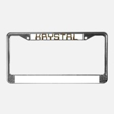 Krystal Circuit License Plate Frame