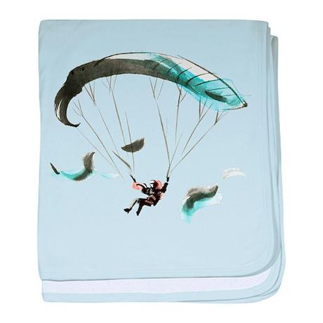 Paraglider baby blanket