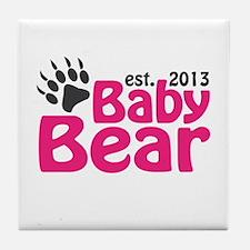 Baby Bear Claw Est 2013 Tile Coaster