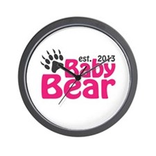 Baby Bear Claw Est 2013 Wall Clock
