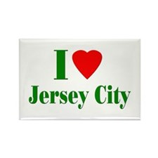 I Love Jersey City Rectangle Magnet (100 pack)