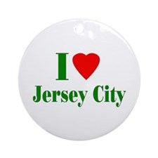 I Love Jersey City Ornament (Round)