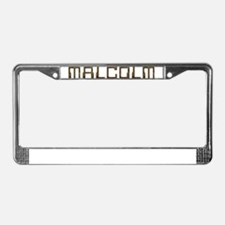 Malcolm Circuit License Plate Frame