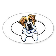 Saint Bernard Peeking Bumper Decal