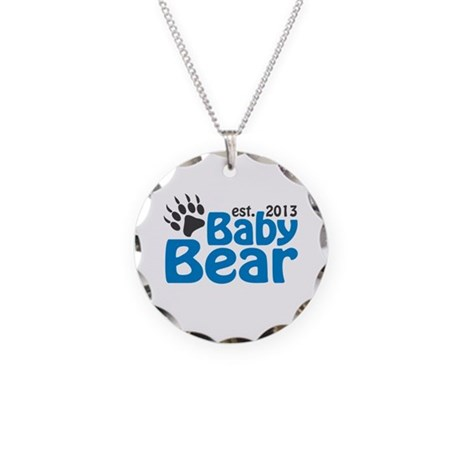 Baby Bear Claw Est 2013 Necklace Circle Charm