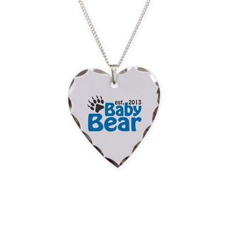 Baby Bear Claw Est 2013 Necklace Heart Charm