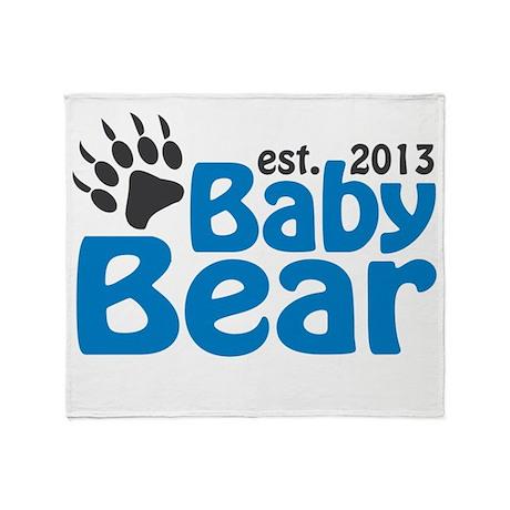 Baby Bear Claw Est 2013 Throw Blanket