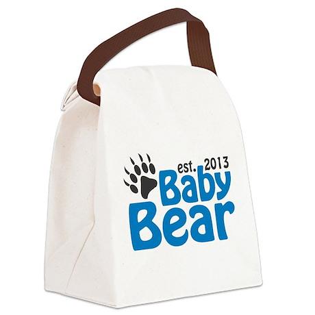 Baby Bear Claw Est 2013 Canvas Lunch Bag