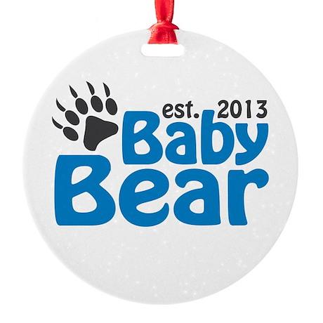 Baby Bear Claw Est 2013 Round Ornament